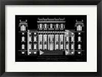 Framed Vintage Facade Blueprint VI