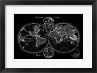 Framed World Map Blueprint