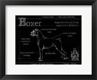 Framed Blueprint Boxer