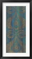 Blue Arabesque I Framed Print