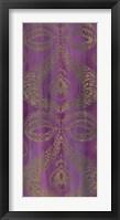 Purple Arabesque I Framed Print