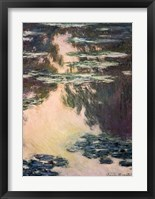 Framed Waterlilies with Weeping Willows, 1907