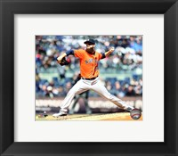 Framed Dallas Keuchel 2016 Action