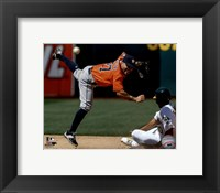 Framed Jose Altuve 2016 Action