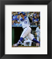 Framed Salvador Perez 2016 Action