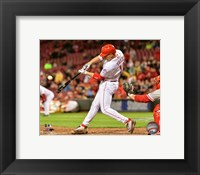 Framed Joey Votto 2016 Action