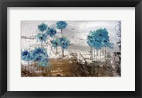 Framed Floralies du Blues
