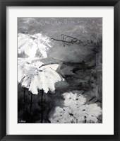 Framed White Little Flowers