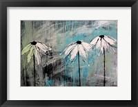 Framed Three Fleurs Blanches