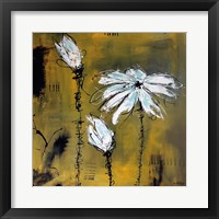 Framed White Flower Yellow 2