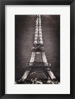 Framed Eiffel Lights B&W