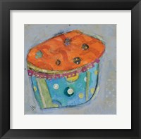 Framed Cupcake I  (orange icing)