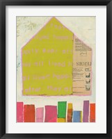 Framed Happy Home in Yellow