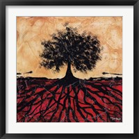 Framed Tree with Roots I