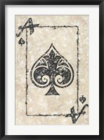Framed Ace of Spades