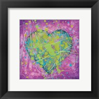 Framed Emotions Green Heart