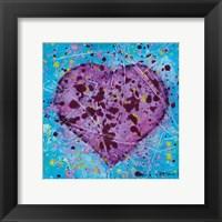 Framed Emotions Scenes Purple Heart