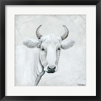 Framed January Cow I