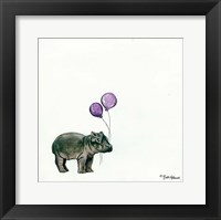 Framed Nursery Hippo