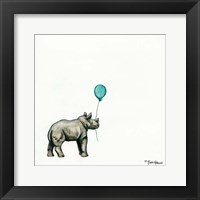 Framed Nursery Rhino