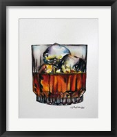 Framed Scotch on the Rocks