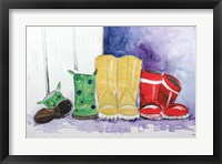 Framed Rain Boots
