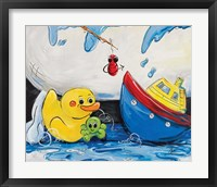 Framed Rubber Ducky and Boat