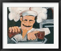 Framed Salt and Pepper Chef