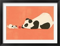 Framed Pug and The Panda