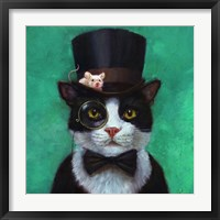 Framed Tuxedo Cat