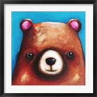 Framed Brown Bear
