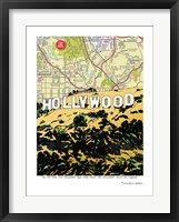 Framed Hollywood Sign