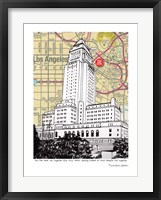 Framed Los Angeles City Hall