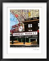 Framed Pike Place Market Seattle