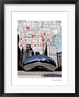 Framed Chicago Millennium Bean