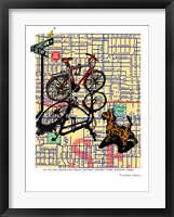 Framed Bicycle and Dog Division Portland