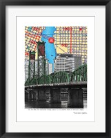 Framed Hawthorne Bridge Portland