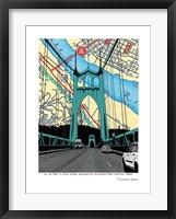 Framed St. John's Bridge Portland