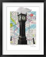 Framed Gastown Clock Vancouver BC