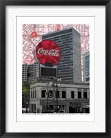 Framed Coca Cola Atlanta, Georgia