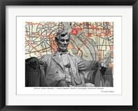 Framed Abraham Lincoln Memorial Washington DC