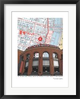 Framed Busch Stadium Outside