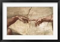 Framed Creation Of Adam (detail of hands)