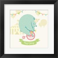 Framed Little Circus Bear Pastel