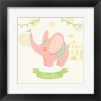 Framed Little Circus Elephant Pastel