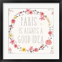 Framed Paris Blooms IV