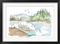 Framed Lakehouse I on White