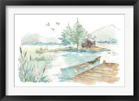 Framed Lakehouse II on White
