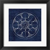 Framed Rosette III Indigo