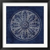 Framed Rosette VIII Indigo